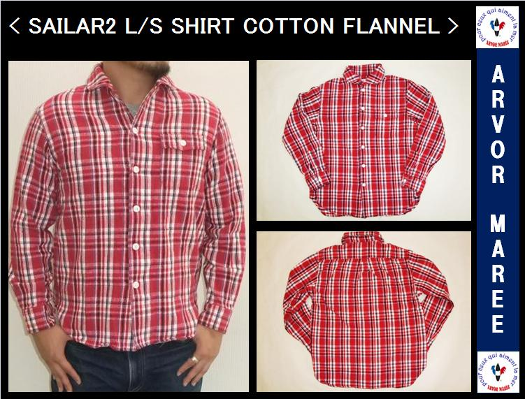 【アルボーマレー】【SALE!!】【完売しました】<br>SAILAR2 L/S SHIRT CHECK FLANNEL<br>RED CHECK
